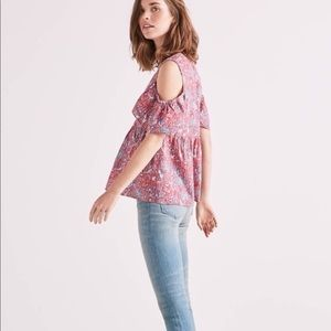New lucky brand off the shoulder blouse